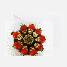 chocolate covered strawberries Greeting Card