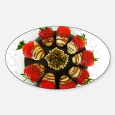 chocolate covered strawberries Sticker (Oval)