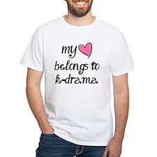 My Heart Belongs to K-Drama T-Shirt