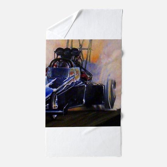 Auto Racing dragster Beach Towel