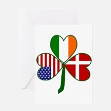 Danish Shamrock Greeting Cards