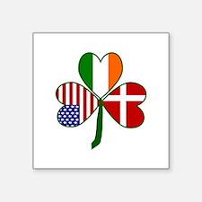 Danish Shamrock Sticker