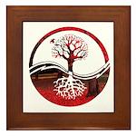 Trees of Scarlet Framed Tile