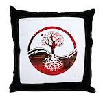 Trees of Scarlet Throw Pillow