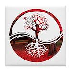 Trees of Scarlet Tile Coaster