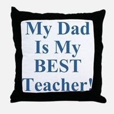 Twisted Imp Dad Is Best Teacher Throw Pillow