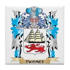 Twomey Coat of Arms - Family Crest Tile Coaster