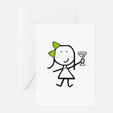 Girl & Martini Greeting Cards (Pk of 20)