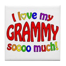 I love my GRAMMY soooo much!! Tile Coaster