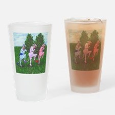 Sneaky Cows Drinking Glass