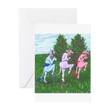 Cute Tip toe Greeting Card