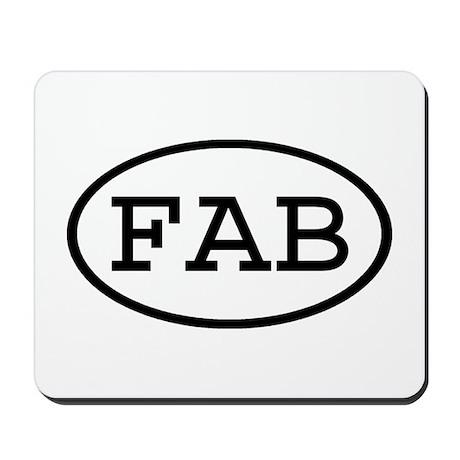 FAB Oval Mousepad