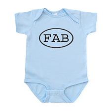 FAB Oval Infant Bodysuit