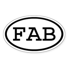 FAB Oval Oval Decal