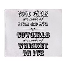Whiskey on Ice Throw Blanket