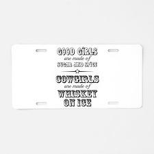 Whiskey on Ice Aluminum License Plate