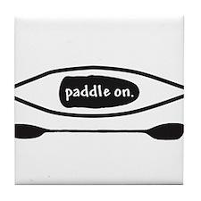 Paddle on Kayak Tile Coaster