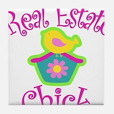 Real Estate Chick Tile Coaster