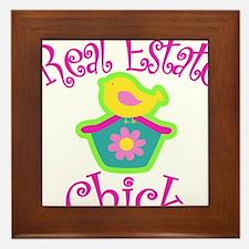 Real Estate Chick Framed Tile