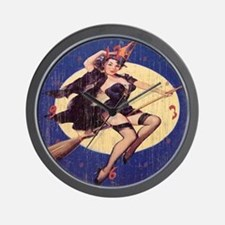 Saucy Witch Wall Clock