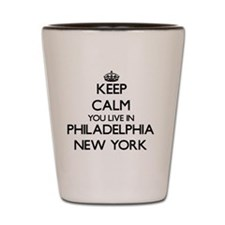 Keep calm you live in Philadelphia New Shot Glass