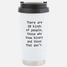 10 Kinds of People Travel Mug