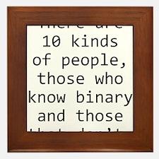 10 Kinds of People Framed Tile