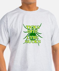 Ticks Bite Lyme Sucks T-Shirt