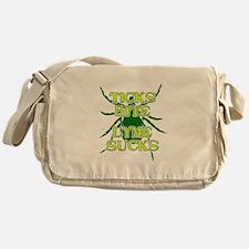 Ticks Bite Lyme Sucks Messenger Bag
