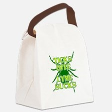 Ticks Bite Lyme Sucks Canvas Lunch Bag