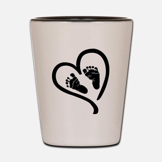 Baby Heart (Maternity) Shot Glass