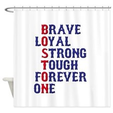 Boston Meaning Shower Curtain