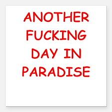 "paradise Square Car Magnet 3"" x 3"""