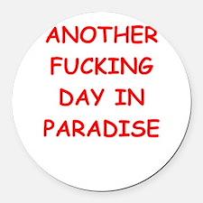 paradise Round Car Magnet