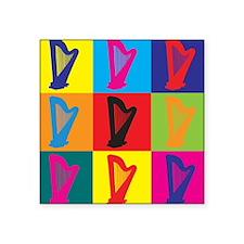 """Cute Harpist Square Sticker 3"""" x 3"""""""