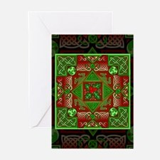 Celtic Labyrinth Holly Greeting Cards (Pk of 20)
