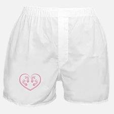 Baby Girl Twins Footprints Boxer Shorts
