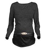 Humor Dark Long Sleeve Maternity T-Shirt