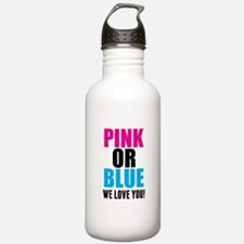 Pink Or Blue We Love You! Water Bottle