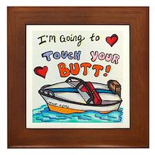 Touch Your Butt Nemo Framed Tile
