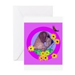 Mini Wirehaired Dachshund Greeting Card