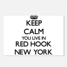 Keep calm you live in Red Postcards (Package of 8)