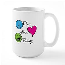 Peace Love Fishing Mug
