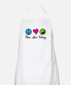 Peace Love Fishing BBQ Apron