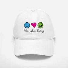 Peace Love Fishing Baseball Baseball Cap