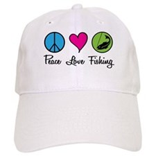 Peace Love Fishing Baseball Cap