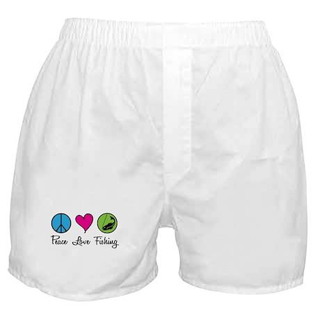 Peace Love Fishing Boxer Shorts