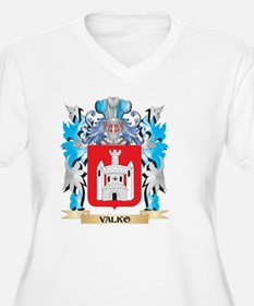 Valko Coat of Arms - Family Cres Plus Size T-Shirt