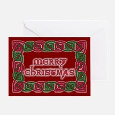 Celtic Merry Christmas Greeting Card