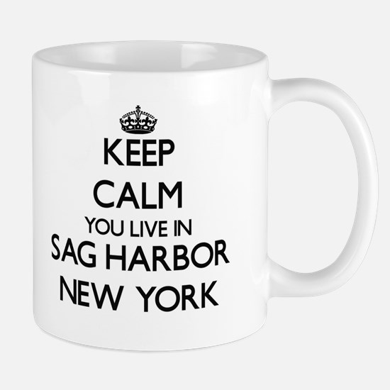 Keep calm you live in Sag Harbor New York Mugs